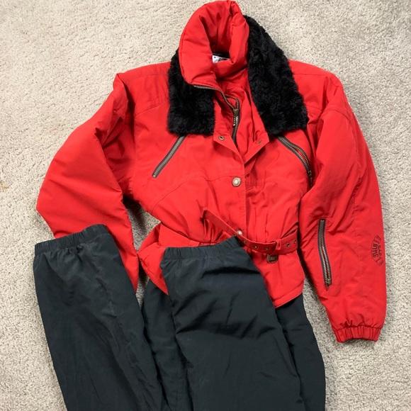 ae6eab2ec54a NILS Jackets & Coats | Vtg Women Snowsuit 8 Red Black Winter Ski Ad ...